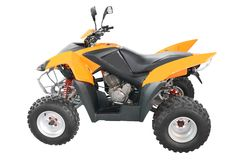 Orange atv isolated Royalty Free Stock Images