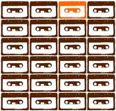 Orange audio tape Stock Images