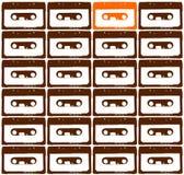 Orange audio tape Stock Images