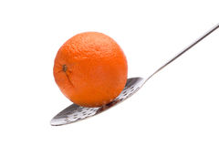Orange auf Abstreicheisen Lizenzfreie Stockfotografie
