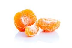 Orange auf dem weißen Hintergrund stockbild