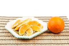 Orange auf der Platte stockfotografie