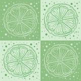 Orange auf einem grünen Hintergrund lizenzfreie abbildung