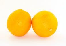 Orange auf einem weißen Hintergrund Lizenzfreies Stockfoto