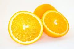 Orange auf einem weißen Hintergrund Lizenzfreies Stockbild