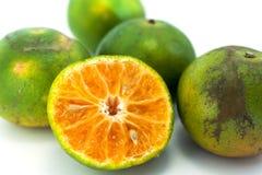 Orange auf einem weißen Hintergrund Lizenzfreie Stockfotografie