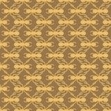 Orange auf nahtlosem Wiederholungshintergrund des braunen Musters der Ameise geometrischen stockbilder