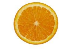 Orange auf Weiß Lizenzfreies Stockfoto