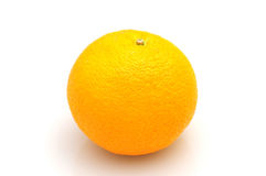 Orange auf weißem backgroud Lizenzfreie Stockfotografie