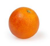 Orange auf weißem Hintergrund Stockfoto