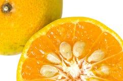 Orange auf weißem Hintergrund stockfotografie