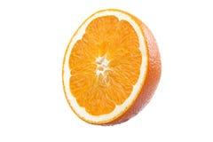 Orange auf weißem Hintergrund Lizenzfreie Stockfotografie
