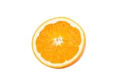 Orange auf weißem Hintergrund Stockbilder