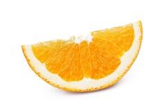 Orange auf weißem Hintergrund Lizenzfreies Stockfoto