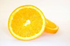 Orange auf weißem Hintergrund Lizenzfreie Stockbilder