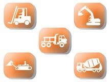 Orange Aufbautasten Lizenzfreie Stockbilder