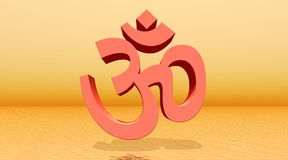 Orange aum / om Royalty Free Stock Photos