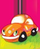 Orange Auto Stockbild