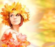 Orange autumn Stock Images