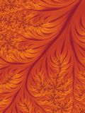 Orange Autumn Background d'abrégé sur feuille de chute Illustration de Vecteur