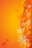Orange autumn background. Stock Photo