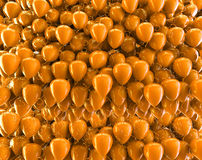 Orange autumn  balloons backdrop.Birthday and carnival concept Stock Photography