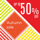 Orange autumn special sale Royalty Free Stock Photography