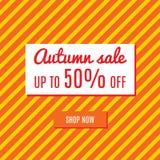 Orange autumn special sale Stock Photos