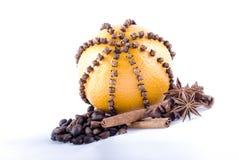 Orange avec des épices Photographie stock