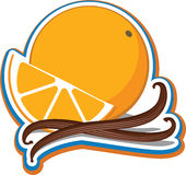 Orange avec des bâtons de cannelle Images libres de droits