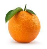 Orange avec la feuille Image libre de droits