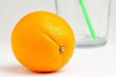 Orange avec la glace Images stock