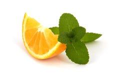 Orange avec la menthe Photographie stock libre de droits