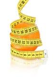 Orange avec la mesure image stock