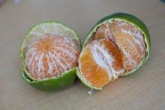 Orange avec la peau Images stock
