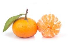 Orange avec le congé Photographie stock