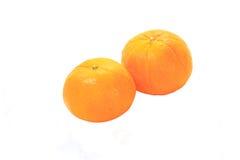 Orange avec le fond blanc Photos stock