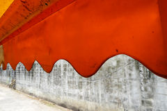 Orange awning. And concrete wall Royalty Free Stock Photos