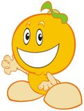 Orange Baby. A fruit character Stock Images