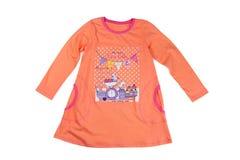 Orange baby dress Stock Photography