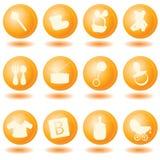 Orange baby icons Royalty Free Stock Images
