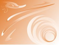 Orange background. Background with abstraction in orange and white colors Stock Photography