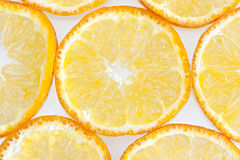 Orange background. Orange slices on white background. Extrem close-up Royalty Free Stock Photo