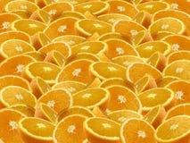 Orange background. Background with pieces of orange Stock Image