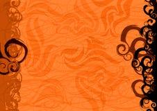 Orange background. Illustration orange and black waves Royalty Free Stock Image