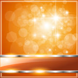 Orange Background. Sparkling orange abstract background with glossy banner Royalty Free Stock Photo