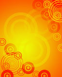 Orange background. Computer generated blank with red bubbles Stock Images