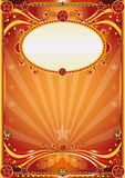 Orange background. An orange circus background for a poster Royalty Free Stock Image