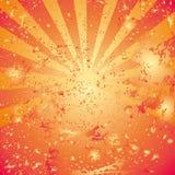 Orange background. Vector grunge orange background with drops stock illustration