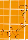 Orange background. Elegant pattern red and black colour on an orange background with white strips Stock Images